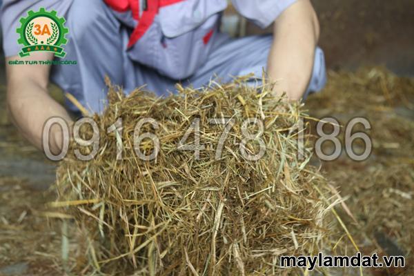 Rơm băm bằng Máy nghiền xơ dừa, rơm rạ 3A15Kw
