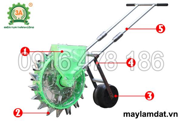 Cấu tạo của Dụng cụ gieo hạt giống 3A