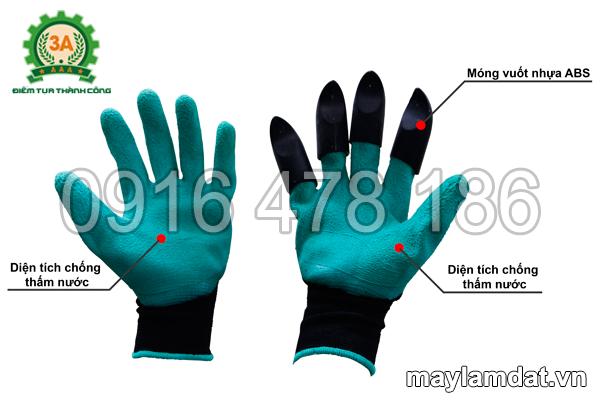Cấu tạo của găng tay làm vườn đa năng 3A