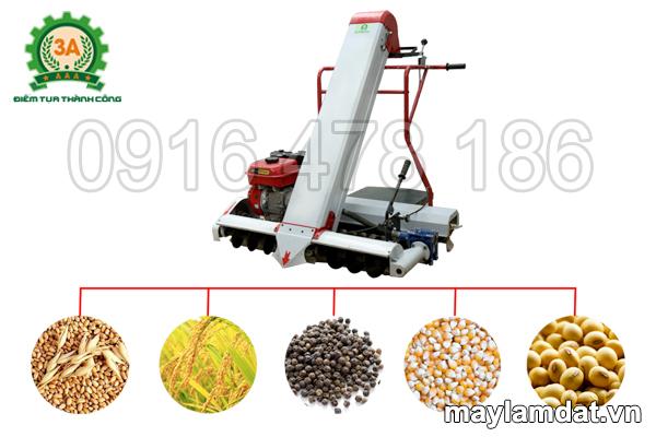 máy xúc lúa vào bao 3A thu gom được nhiều loại nông sản
