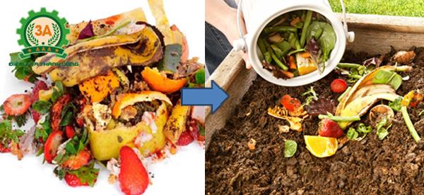 cách làm phân hữu cơ từ thức ăn thừa